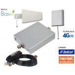 Kit Antena + Amplificador de Señal Celular 65db 2100 Mhz 4G LTE Evolution + 1 Panel Repetidor