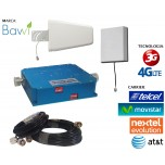 Kit Antena + Amplificador de Señal Celular 65db Doble Banda 850-2100 Mhz 3G CDMA / 4G LTE Evolution + 1 Panel Repetidor