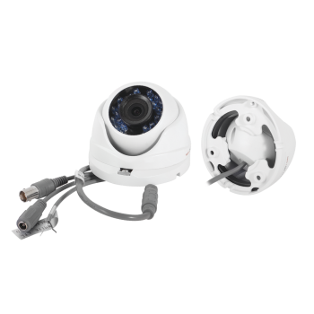 Camara eyeball hibrida LEGEND TurboHD 720p (Analogico 1200TVL / HD-TVI 720p) lente gran angular de 2.8 mm e IR inteligente para 20m
