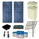 EPCOM POWER LINE KIT DE ENERGIA SOLAR 25W, 4 POE 802.3 af/at Autonomia 72 Hrs