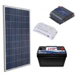Kit Panel Solar 150 Watts + 1 Bateria 115 Ah + Inv 450 + Ctrl