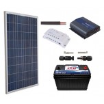 Kit Panel Solar 150 Watts + Bateria 110 Ah + Inversor 800 Watts