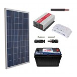 Kit Panel Solar De 150 Watts + Bateria 110 A + Inversor 600 Watt